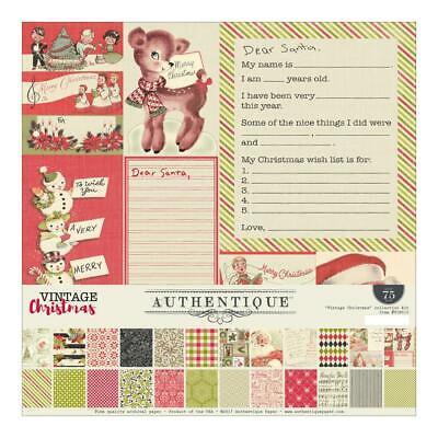 "Authentique Vintage Christmas 12x12"" Collection Kit"