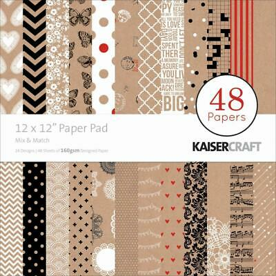 "Kaisercraft Mix & Match 12x12"" Paper Pad 48pg"