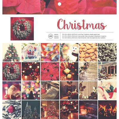 "American Crafts Photo Real Paper Pad Christmas  12x12"", 48pg"