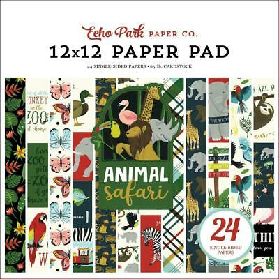 "Echo Park Animal Safari 12"" Paper Pad  24pg"