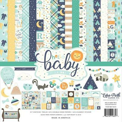 "Echo Park Hello Baby Boy 12"" Collection Kit  13pk"