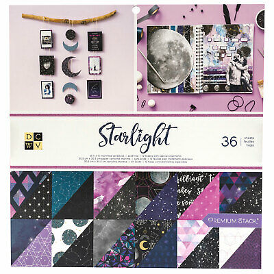 "DCWV 12"" Paper Pad Starlight  36pg, Double Sided"