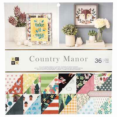 "DCWV 12"" Paper Pad Country Manor  36pg, Double Sided"