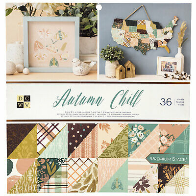 "DCWV 12"" Paper Pad Autumn Chill  36pg, Double Sided"