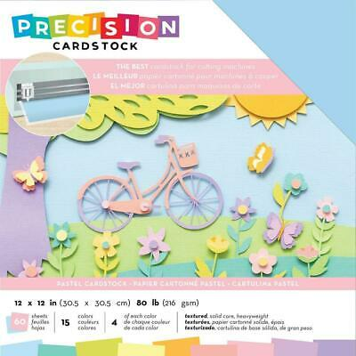 "American Crafts 12"" Precision Cardstock Pack Pastel Textured"