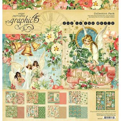 "Graphic 45 Joy to the World 12"" Collection Pack  17pc Pack"