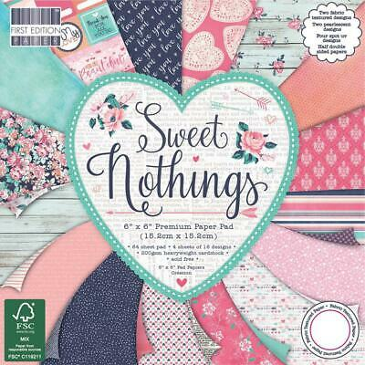 "First Edition 6x6"" Premium Paper Pad Sweet Nothings 64pg"