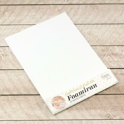 Couture Creations Foamiran Flower Making Sheets A4 White 10pk