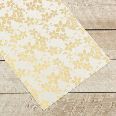 Couture Creations Special Occasions Foiled Paper Pack Gold Vines on White  A4, 1