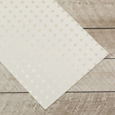 Couture Creations Special Occasions Foiled Paper Pack Silver Stars on White  A4,