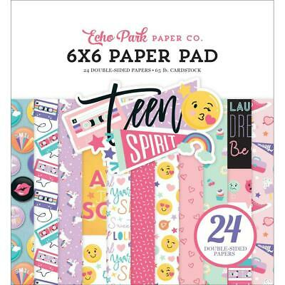 """Echo Park Teen Spirit Girl 6"""" Paper Pad  24pg, Double Sided"""