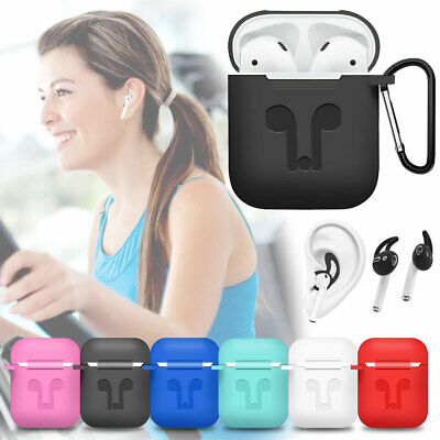 Portable Silicone Case + Earbuds Holder + Strap For Apple AirPods 2nd Generation
