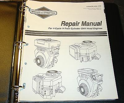 Briggs & Stratton  4 Cycle V-Twin Cylinder Ohv Head Engines Service Manual