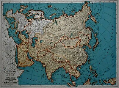 Vintage 1942 Atlas Map World War WWII Russia USSR Eastern Europe Asia China L@@K