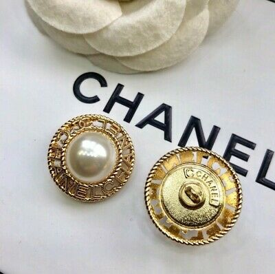 Chanel CC  Button 17 mm single GOLD TONE jacket sweater SALE