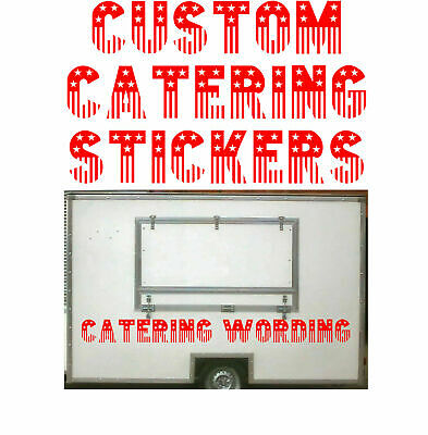 American Style Letters, Burger Van Stickers, Catering Trailer, 2x 550mm x 100mm