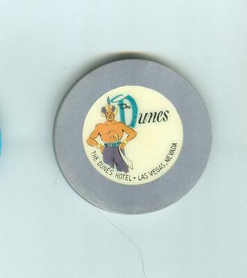 Dunes Hotel Casino Poker Chip---Dark Grey  Color  Roulette--