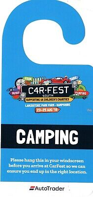 Carfest South Extra car park pass 23-25 August