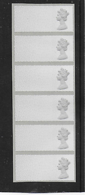 Post & Go - 1st Class Machins (R18YAL) as a Blank Strip of 6