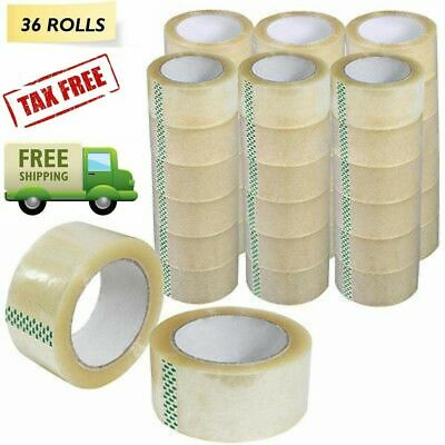 """1-72 Rolls 2/"""" x 110 Yards Acrylic Tape Clear Packing Carton Sealing Box 1.6Mil"""