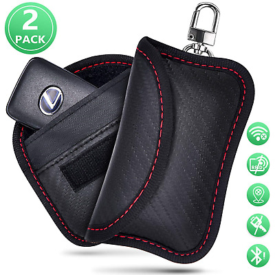 Faraday Bag for Car keys [ 2019 NEW ] Car Key Signal Blocker Pouch RFID Keyless