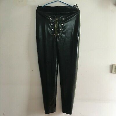 Latex Long Pants 100% Rubber Schwarz Hose Sexy 0.4mm Gummi Trouser Fixed Size XL