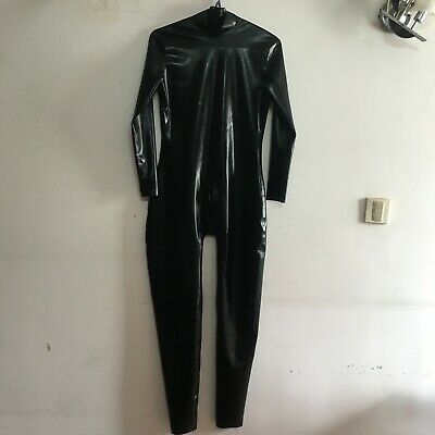 Latex Catsuit 100% Gummi Overall Sexy Cosplay Schwarz Tight Bodysuit fixed sizeL