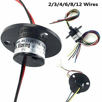 Compact 5A Collector Ring Wind Turbine Slip Ring 22mm 500RPM 2/3/4/6/8/12 Wires