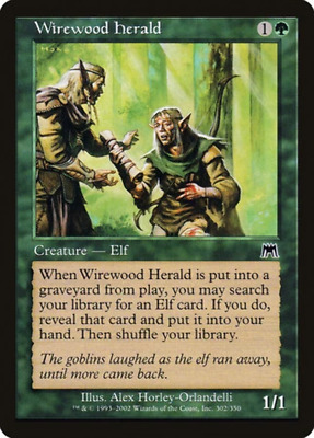 MTG ONSLAUGHT foil Excellent Wirewood Pride Condition