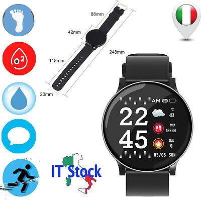 Bluetooth Smartwatch per Android iOS Orologio Fitness Intelligente Uomo Donna