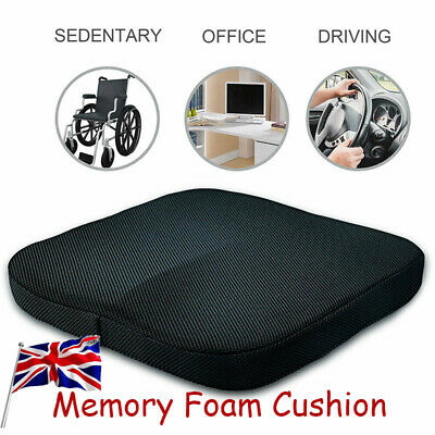 Memory Foam Seat Cushion Coccyx Orthopedic Pain Relief Office Chair Car Seat