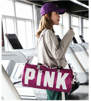 Canvas Duffle Bag Yoga Holiday Gym Travel Weekend Top women Pink Blue Grey