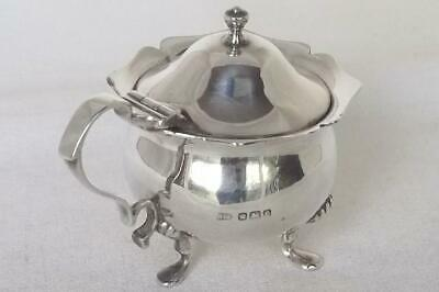 A Fine Antique Solid Sterling Silver Edwardian Mustard Pot & Liner Dates 1906.