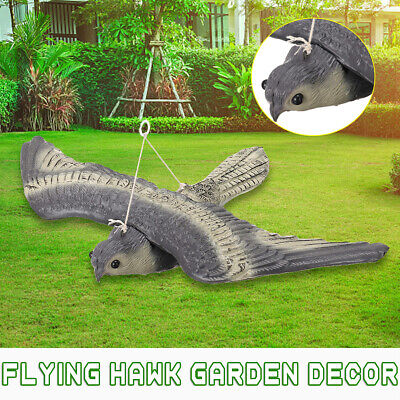 Flying Falcon Hawk Bird Scarer Hunting Decoy Deterrent Garden Hang Decor Statue