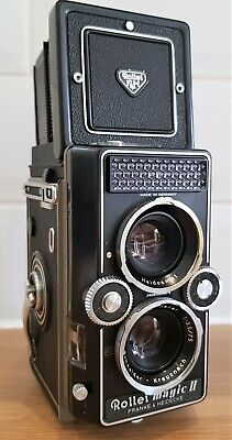 VINTAGE 1960s ROLLEI MAGIC II TLR CAMERA WITH XENER F 3.5 75mm LENS. IN VGC