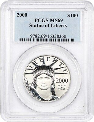 2000 Platinum Eagle PCGS MS69 - Statue Liberty 1 oz
