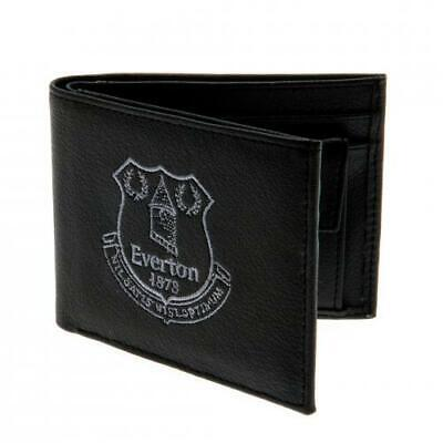 Everton Fc Wallet Black & Blue Embroidered Purse Money Football Supporter New