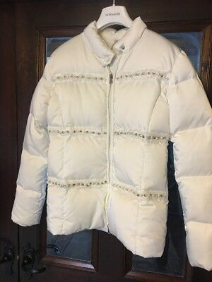 MISS GRANT Jacket Age 12 White Duck Down Puffa  With Pearls And Diamonds 💎