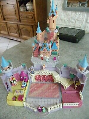 Polly Pocket Chateau Cendrillon Bluerbird Eclairant 1995 Et 9 Personnages