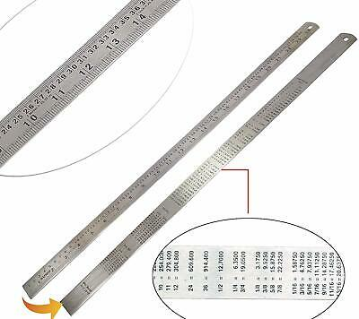2ft 24-inch Stainless Steel Ruler Double Side Measuring Scale for Woodworking