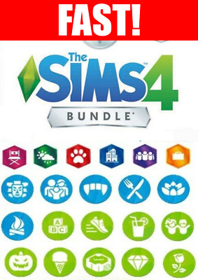 The Sims 4 + ALL Expansions Packs + Additional DLCs + Warranty Listed