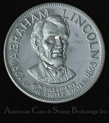 Abraham Lincoln 16th President United States 1861-1865 Silver Medal 39mm 32.8g
