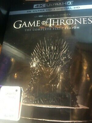 Game of Thrones : The Complete First Season 4K Ultra HD + Digital HD - SEALED!
