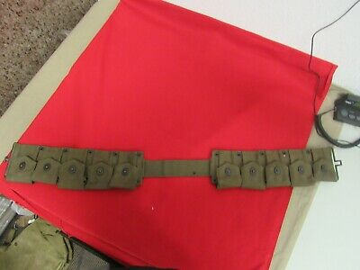 WWII USMC 1944 Dated rifke cartridge belt