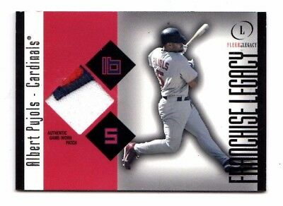 Albert Pujols Mlb 2004 Fleer Legacy Franchise Patch 99 (Cardinals,Angels)