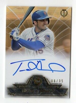 Travis D`arnaud Mlb 2014 Topps Tribute To The Pastime Auto Sepia #/35 (Mets)