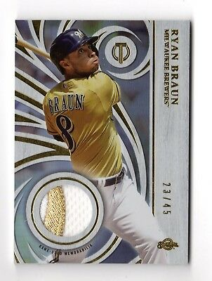 Ryan Braun Mlb 2015 Topps Tribute Prime Patches #/45  (Milwaukee Brewers)