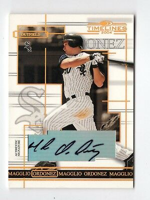 Magglio Ordonez Mlb 2004 Donruss Timelines Autograph Gold #/25 (White Sox,Tigers