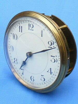 Antique French 8 Day Clock Movement, Key Wind Timepiece, Working.