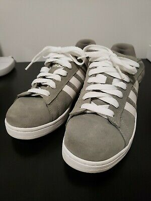 sélection premium 1f2cf 94563 ADIDAS CAMPUS ST Grey 3 Stripes Suede Shoes Mens 9.5 VERY RARE Skate GREAT  SHAPE